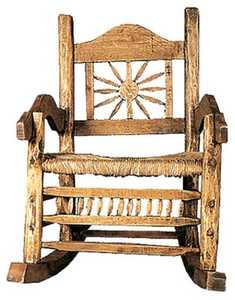 Rustic Pine Furniture 654 Giant Peeled Pine Rocking Chair