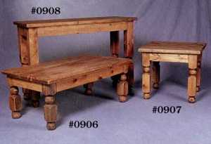 Rustic Pine Furniture 908 Round Leg Buffet Table