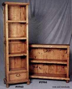Rustic Pine Furniture 966 Short Bookcase