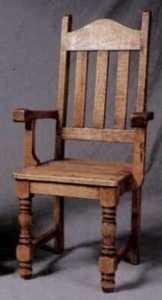 Rustic Pine Furniture 401A Turned Leg High-Back Arm Chair