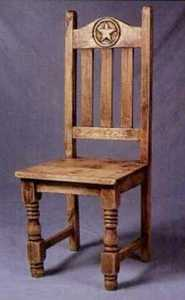 Rustic Pine Furniture 1035 Chair With Star