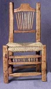 Rustic Pine Furniture 510 Peeled Pine Chair