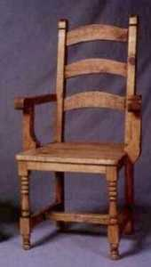 Rustic Pine Furniture 359A Turned Leg Arm Chair