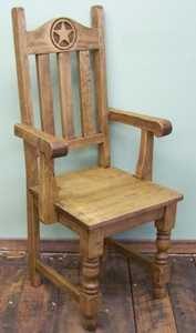Rustic Pine Furniture 1306 Arm Chair W/Star