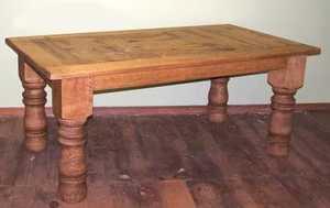 Rustic Pine Furniture 800 84 in Log Leg Table