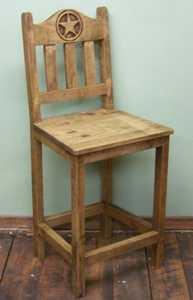 Rustic Pine Furniture 1832 24 in Bar Stool