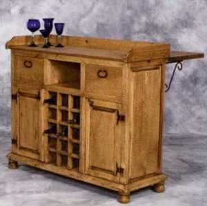 Rustic Pine Furniture 2299 Wood Wine Bar