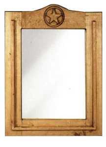Rustic Pine Furniture 1179 Wood Star Mirror
