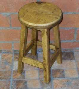 Rustic Pine Furniture 2659 Small Wooden Stool