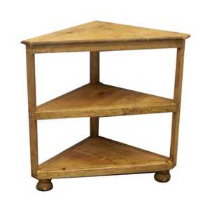 Rustic Pine Furniture 3595 Corner Shelf Table