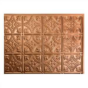 Acoustic Ceiling Products D60-25 Fasade 18 in X 24 in Traditional 1 Backsplash Panel In Polished Copper