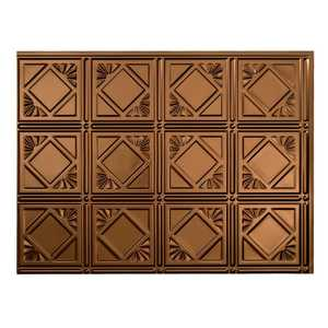 Acoustic Ceiling Products D61-26 Fasade 18 in X 24 in Traditional 4 Backsplash Panel In Oil Rubbed Bronze