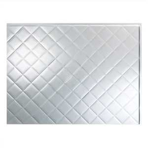 Acoustic Ceiling Products D64-08 Fasade 18 in X 24 in Quilted Backsplash Panel In Brushed Aluminum