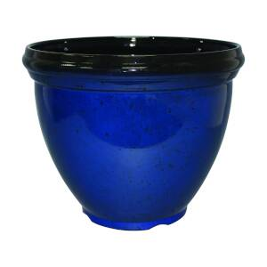 Southern Patio HDR-029762 Hdr 15-Inch Heritage Planter Monaco Blue