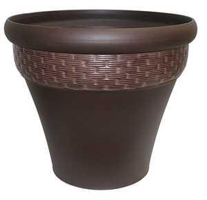 Southern Patio HDR-007395 20-Inch Hazelnut Valesana Planter