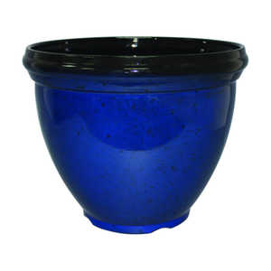 Southern Patio HDR-029762 15-Inch Heritage Planter Monaco Blue