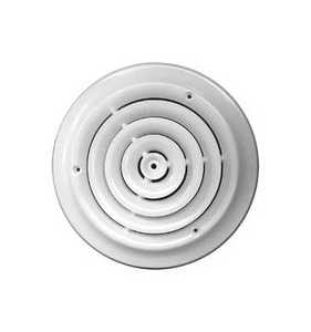 Accord Ventilation ABCDWH08 Ceiling Damper 8 in White Round