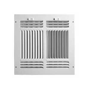Accord Ventilation ABSWWH41010 4-Way Sidewall /Ceiling Register 10x10 Aluminum
