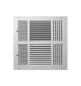 Accord Ventilation ABSWWH41212 4-Way Sidewall /Ceiling Register 12x12 Aluminum