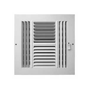 Accord Ventilation ABSWWH488 4-Way Sidewall /Ceiling Register 8x8 Alum
