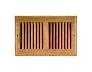 Accord Ventilation AOSWOLL126 Sidewall Register 12x6 Light Oak