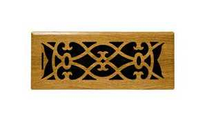 Accord Ventilation APFROMV412 Floor Register Victorian 4x12 Oak