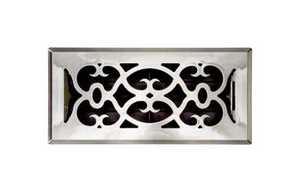Accord Ventilation APFRSNV410 Floor Register Victorian 4x10 Satin Nickel