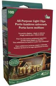 Adams Manufacturing 9040991630 All-Purpose Light Clips 100-Pack