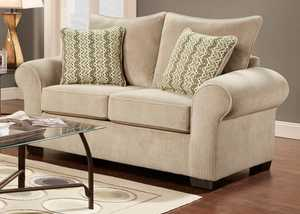 Affordable Furniture 7302 Chevron Seal Loveseat