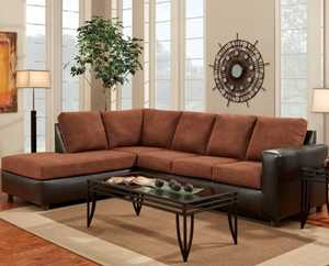 Affordable Furniture 3651/3652 Aruba Chocolate Sectional