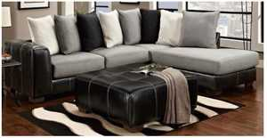 Affordable Furniture 6351/6352 Sectional Idol Steel