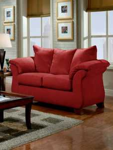 Affordable Furniture 6702 Sensations Loveseat In Red Brick