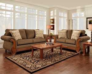 Affordable Furniture 8402 Loveseat Kindred Brown