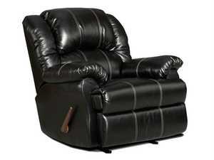 Affordable Furniture 2001 Taos Black Bonded Leather Recliner