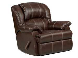 Affordable Furniture 2001 Brandon Bonded Leather Recliner Brown