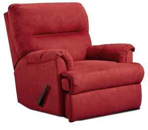 Affordable Furniture 2155 Sensations Microfiber Recliner In Red Brick