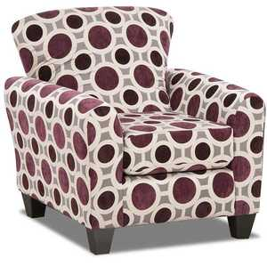 Affordable Furniture 9001 Conspiracy Mulberry Accent Chair
