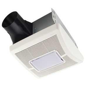 BROAN-NUTONE, LLC A110L 110 Cfm 1.3 Sones InVent Series Single-Speed Fan Light
