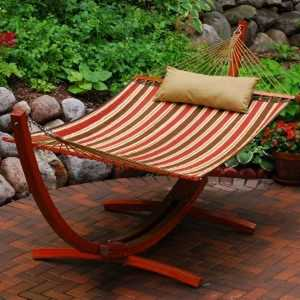 Algoma Net Co. 6710160SP Arc Frame And Quilted Hammock Combination