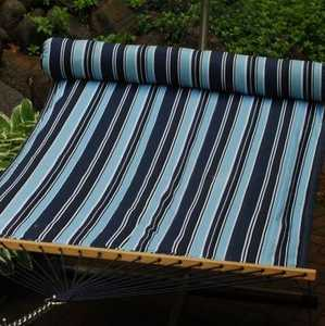 Algoma Net Co. 2932DDL Quilted Fabric Hammock With Matching Pillow Blue Stripe