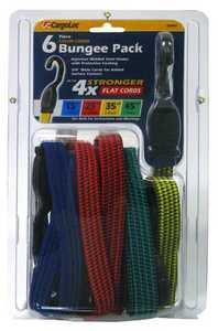 Cargoloc 32407 6 Pc Color Coded Bungee Pack