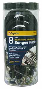 Cargoloc 32448 8pc Industrial Strength Bungee Pack