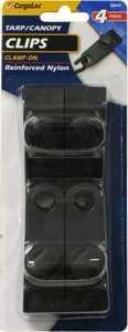 CARGOLOC 82471 4 PC. TARP CLIPS - CLAMP ON REINFORCED NYLON