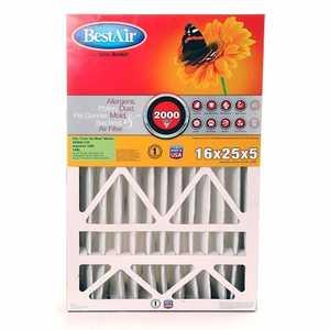BestAir AB1625 16 x 25 x 5-Inch Allergen Control Filter