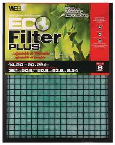 Protect Plus Air WP1425 14 x 25 x 1-Inch Eco Plus Reusable Air Filter