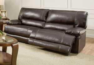 AMERICA FURNITURE MANUF. AF8504 Roman Reclining Sofa In Chocolate