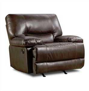 AMERICA FURNITURE MANUF. AF8509 Roman Chocolate Chair And A Half Rocker Recliner
