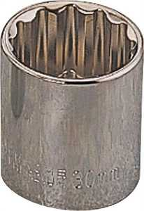 Vulcan MT6531057 12mm 1/2-Inch Drive 12-Point Standard Socket