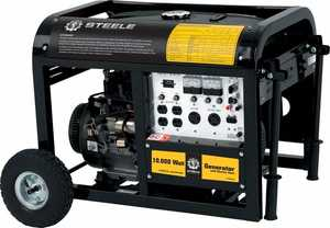 Steele SP-GG-1000E 10000-Watt Mobile Electric Start Generator