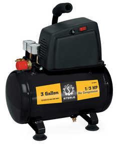 Steele SP-CE043 3-Gallon 100 PSI Electric Portable Air Compressor